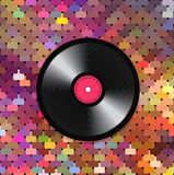 Music mosaic background. Vector background with a vinyl record from a banner, a poster or for the realization of your other design ideas Stock Images