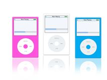 Music mp3 player. Illustration of fashion mp3 portable player for teens Royalty Free Stock Photography