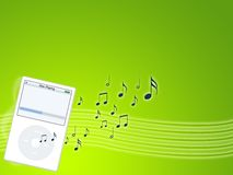 Music mp3 player Stock Photos