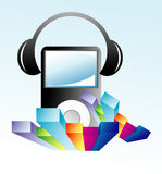 Music Mp3 Player royalty free stock image