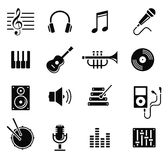 Music and multimedia icons, vector Royalty Free Stock Image