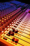 Music and music mixer. Mixer of a digital technology and controlpanel for djs Royalty Free Stock Photo