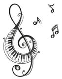 Music, music notes, clef royalty free illustration