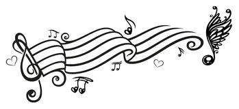Music, music notes, clef Royalty Free Stock Photo