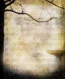 Music sheet tree background Royalty Free Stock Photography