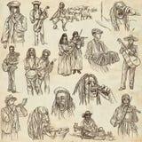 Music and MUSICIANS around the World. Stock Photo