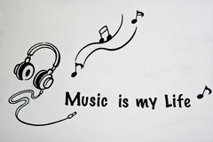 Music is My Life royalty free stock image