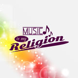 Music is my religion Stock Photo