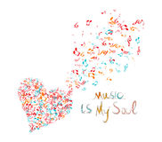 Music is my soul background Royalty Free Stock Image