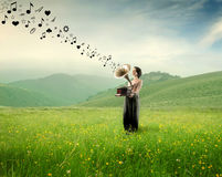 Music in the nature Stock Image