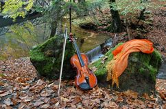 Music of nature. Classic music and landscape. Music of nature Stock Photos