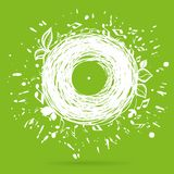 Music of nature green sketch concept illustration Royalty Free Stock Photos