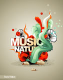 Music nature illustration Stock Photos