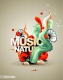 Music nature illustration Stock Photos