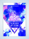 Music Night flyer, template or banner design. Stock Image