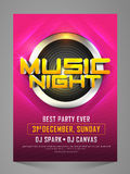 Music Night Party Celebration Flyer, Banner, Pamphlet. Stock Images