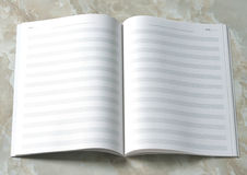 Music notation book Stock Photography