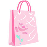 Music notation shopping bag Stock Images