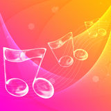 Music note. Symbol with abstract color background Royalty Free Stock Photos