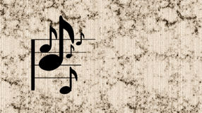 Music Note. With grunge background vector illustration