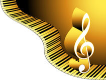 Music note. Single music note on  keyborad Stock Image