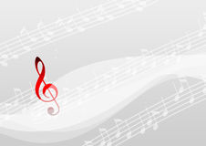 Music note. In wavy style background Stock Image