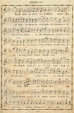 Music note. Antique old Music note background stock photos