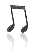 Music Note. Artistic Music note in white background Royalty Free Stock Photos