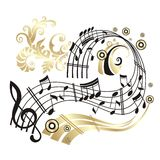 Music note. stock illustration