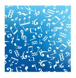Music note abstract background. Royalty Free Stock Photo