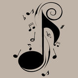 Music note royalty free illustration