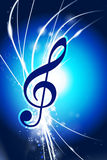 Music Note on Abstract Modern Light Background Royalty Free Stock Photo