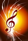 Music Note on Abstract Modern Light Background Royalty Free Stock Photos
