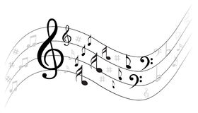 Music Note Backgraund Stock Photos