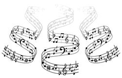 Music Note Backgraund Royalty Free Stock Photography