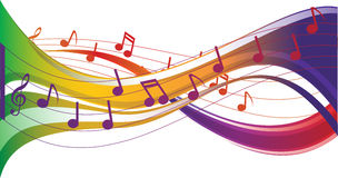Music note background Royalty Free Stock Photos