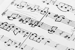 Music note background. Fragment of music note sheet royalty free stock photos