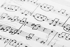 Music note background. Fragment of music note sheet royalty free stock photo