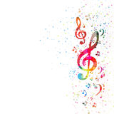 Music Note Background Stock Photo