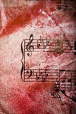 Music note background. Old notes stock photo