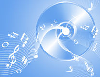 Music note background Stock Photos