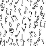Music note background design Stock Photos