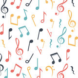 Music note background design Royalty Free Stock Photos