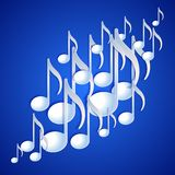 Music note background design. Stock Photos