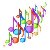 Music note background design. stock illustration