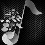 Music Note Background - Metal Grid Stock Image