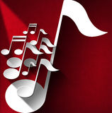 Music Note Background - Red Velvet Stock Images