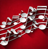 Music Note Background - Red Velvet Stock Image