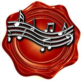 Music note background Royalty Free Stock Photo