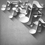 Music Note Background - White Velvet Royalty Free Stock Image